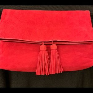 New red suede clutch bag!!